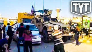 Angry Kurds Throw Stuff At US Tanks Leaving Syria
