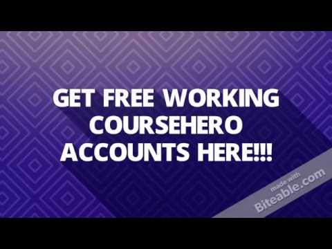 free coursehero account