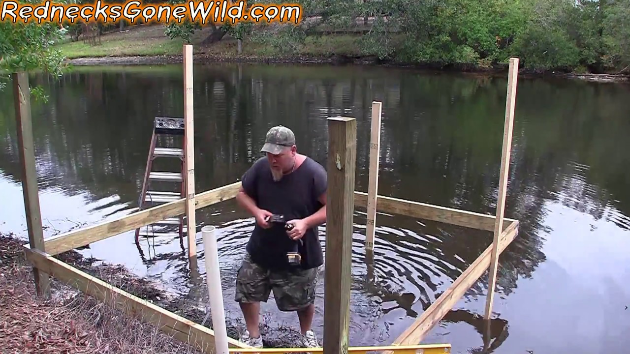 Building a dock part 2 youtube for How to build a small lake