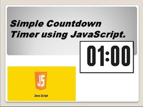 Simple Countdown Timer using JavaScript
