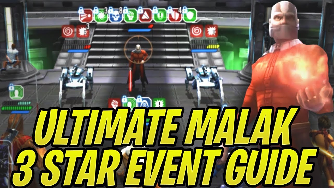 Best Darth Malak Event Guide! How to 3 Star Light Side Path! Best  Characters/Mods/Strategy | SWGoH