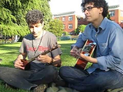Persian Setar and Acoustic Guitar play at Kitsilano Beach Vancouver