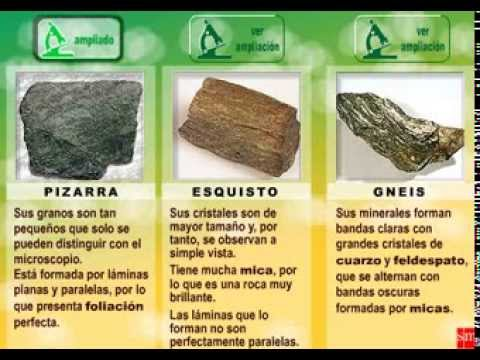 Rocas metamórficas - YouTube