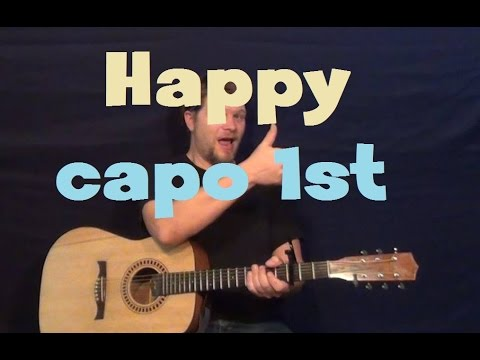 Happy (Pharrell Williams) Easy Strum Guitar Lesson How to Play ...