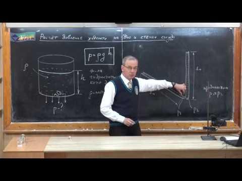 Как найти давление на дно сосуда формула