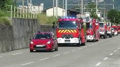 Arrivée des pompiers de tournon pour le défile du 14 juillet 2019