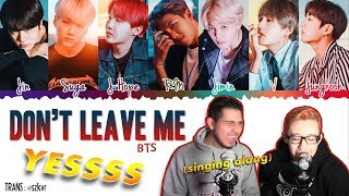 GUYS REACT TO BTS 'Don't Leave Me' (Full Song)