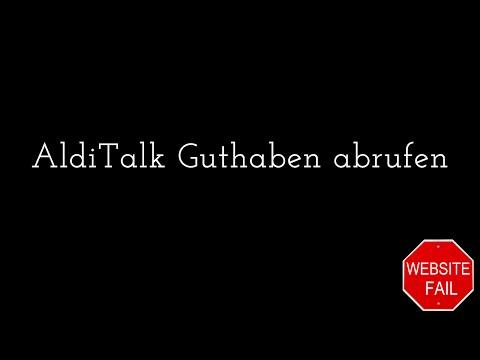 Aldi Talk Guthaben Abfragen Online - Gefunden!