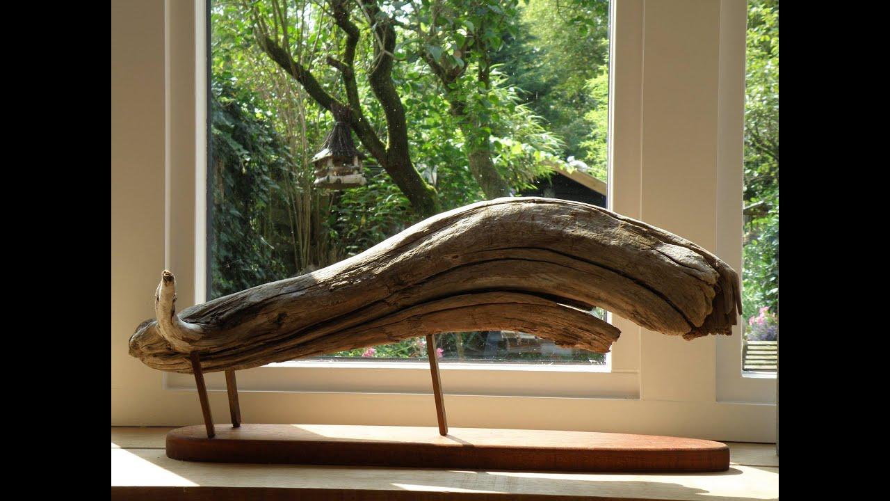 Woodworking driftwood part 1 the whale youtube for How to work with driftwood