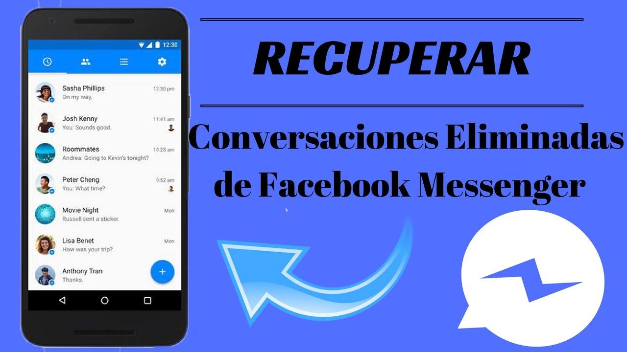 como ver conversaciones borradas de facebook 2020