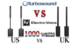 Electro Voice Evolve 50 and Turbosound IP1000