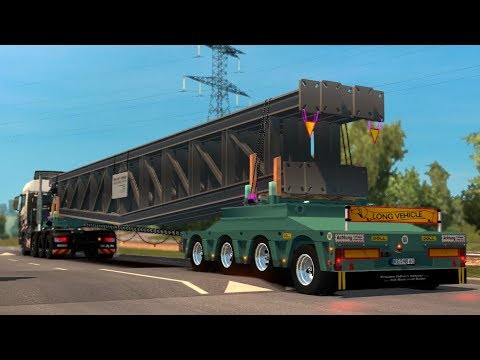 Euro Truck Simulator 2   Mods   Trailer Doll Stahlbrcken Konstruktion [1.28]