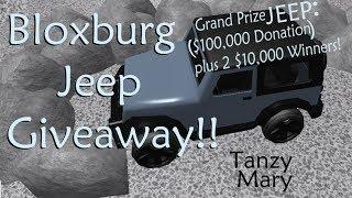 (CLOSED) Roblox: Bloxburg | 100K Jeep Giveaway & Mocap Dancing