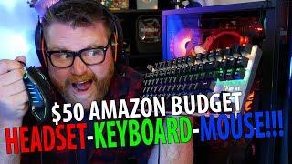 $50 Amazon Budget Gaming Headset Keyboard Mouse COMBO!!!