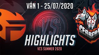Highlights FL vs CES [Ván 1][VCS 2020 Mùa Hè][25.07.2020]