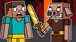 Piglin & The Bastion Remnant | Block Squad (Minecraft Animation)