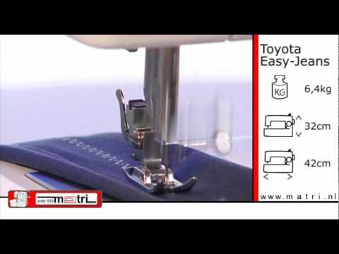 toyota easy jeans promo naaimachine sewingmachine machine. Black Bedroom Furniture Sets. Home Design Ideas
