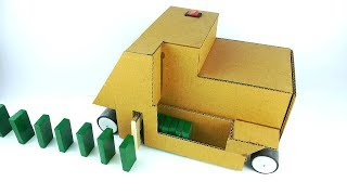 How to make  Domino row building machine from cardboard for school project