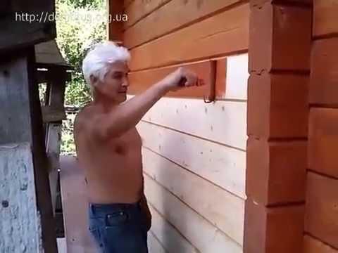 Покраска деревянного, каркасного дома из бруса