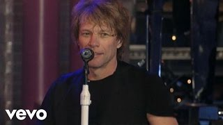 Bon Jovi Livin On A Prayer Live On Letterman