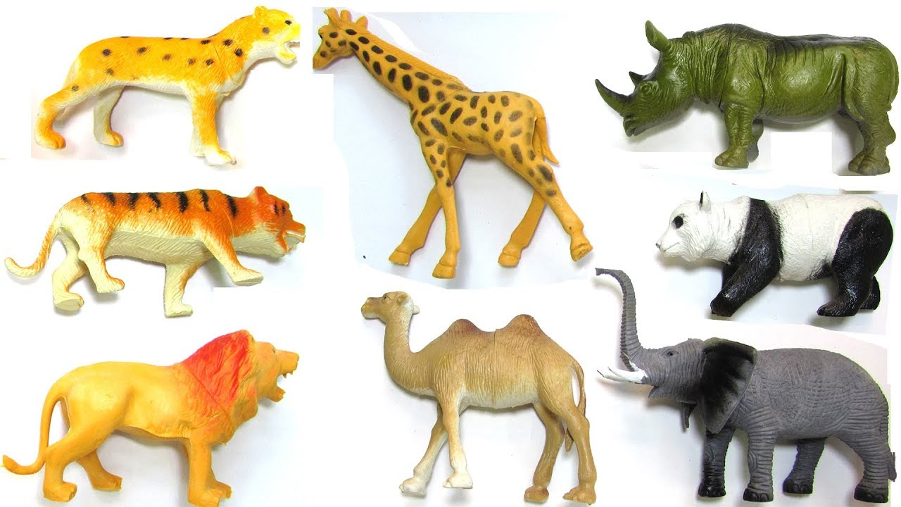 Learn Wild Animals Names and Sounds For Kids | Wildlife Toys and Real Animals | Tokek