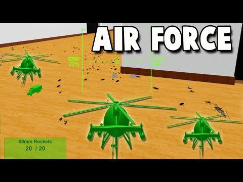 Helicopter AIR STRIKE!  Army Men Air Force  (Home Wars Gameplay Part 2)