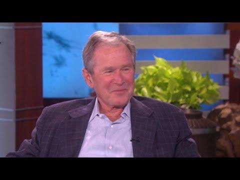 George W. Bush talks to Ellen about poncho battle