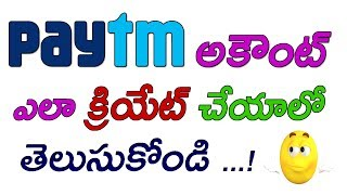 How to create a paytm account in your android device || By Telugu tech world
