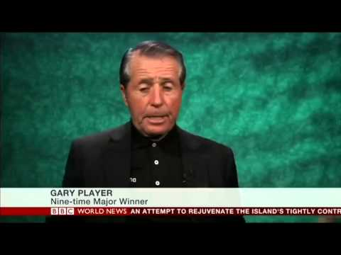 Gary Player naked on BBC World News