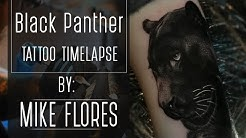 Realistic Black Panther Tattoo Timelapse by Mike Flores