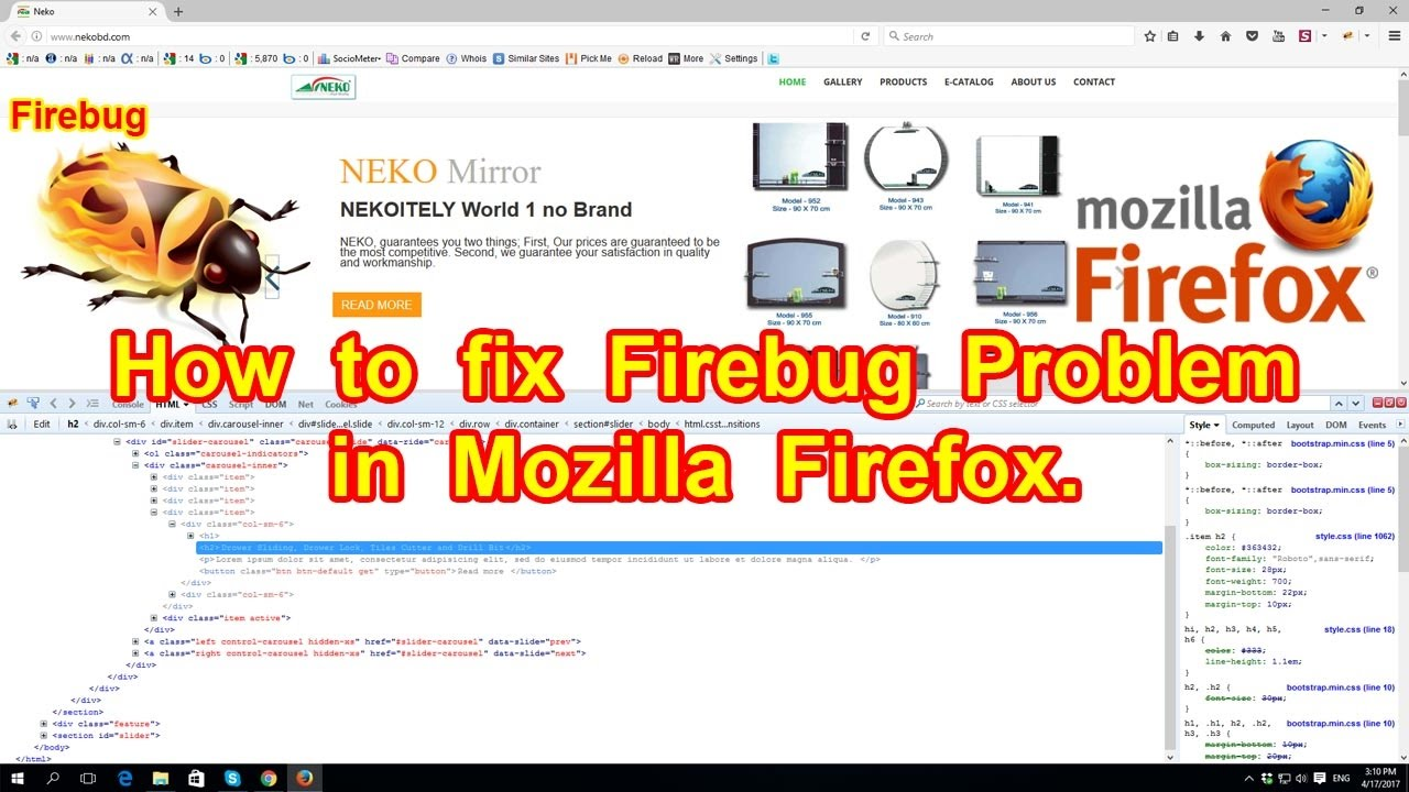 How to fix Firebug Problem in Mozilla Firefox - Watch & Learn