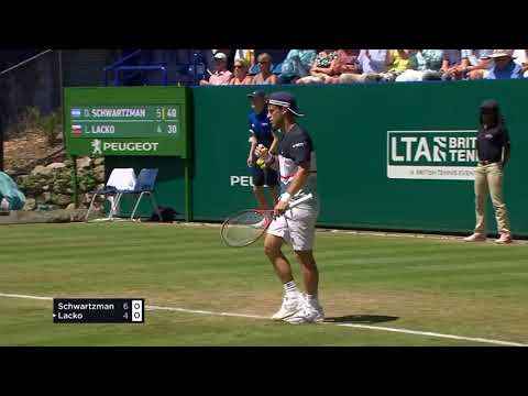 Highlights from the Nature Valley International as Kyle Edmund beats Andy Murray