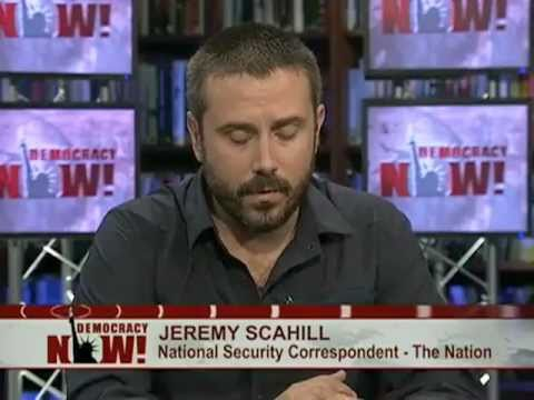 Jeremy Scahill on Democracy Now! talking about the CIA's secret sites in Somalia. 1 of 2