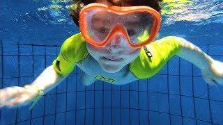 Swimming Underwater | Learn Sports for Kids, Children and Toddlers | Sports Day in Aqua Park