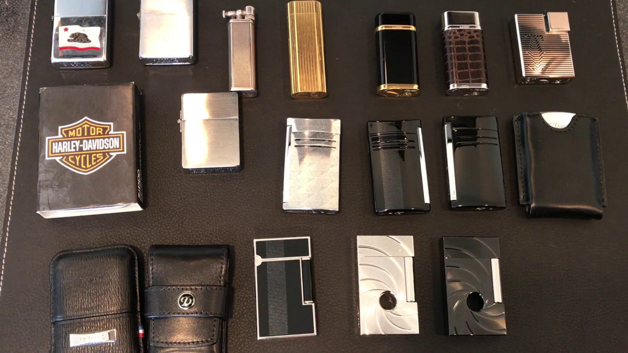 Lighter Collection Cartier S T Dupont Zippo Hkwinger Youtube