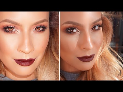 Dark Lip Makeup Look Talk Through Youtube