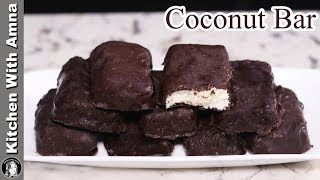 Chocolate Coconut Bar Recipe at Home | Easy Bounty Bar Recipe | Kitchen With Amna