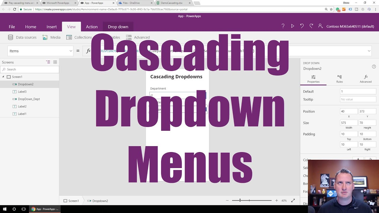 PowerApps Cascading Dropdown