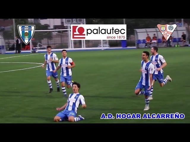 GOLES DE FERNANDO CUENCA Y CRISTIAN DE LA MATA  HOGAR ALCARREÑO 2 1 MORA C F   1 9 2019 PÀLAUTEC