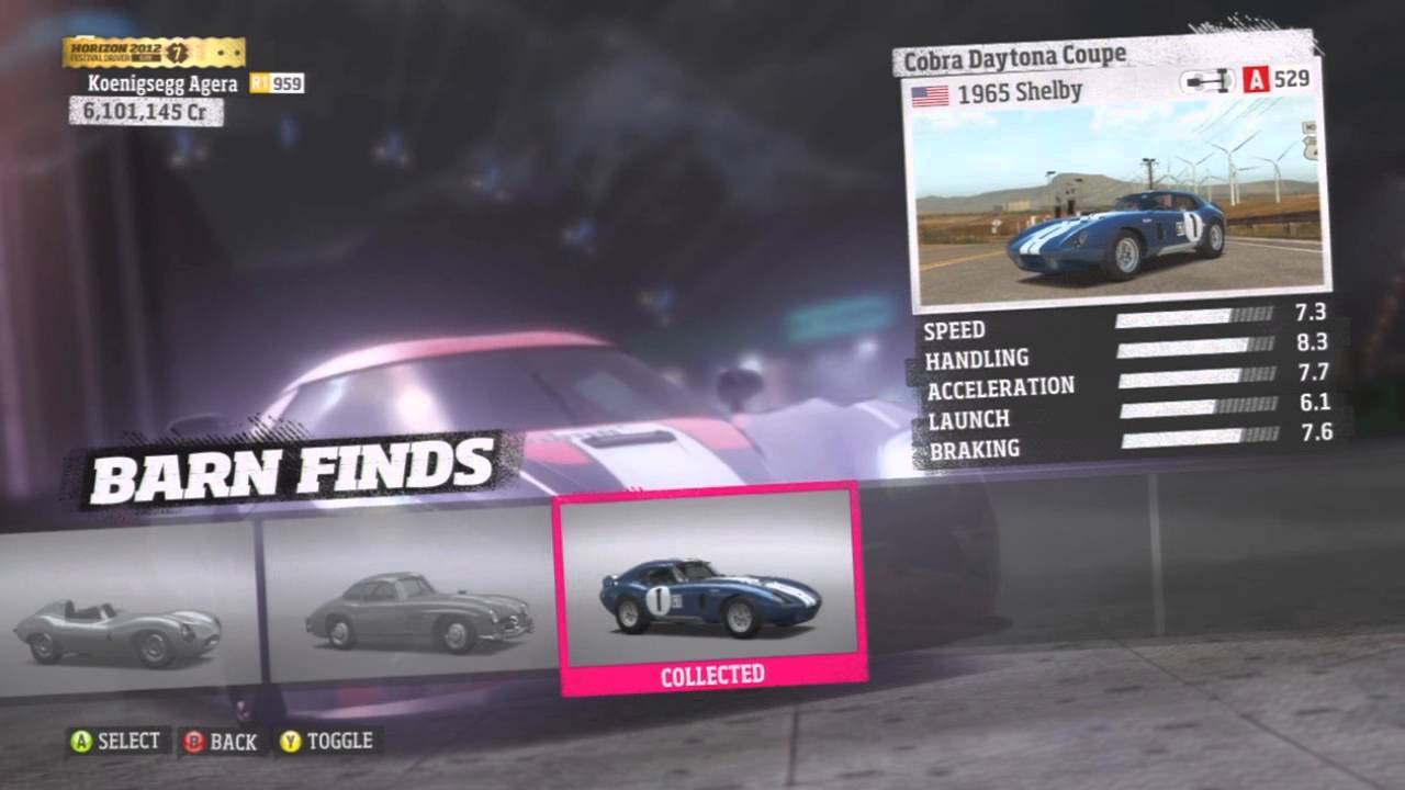 Forza Horizon All 9 Barn Find Cars