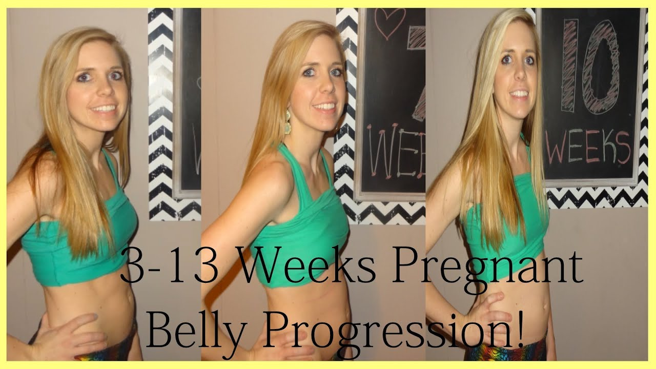 First Trimester Pregnant Belly Progression Youtube