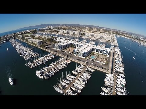 Marina del Rey, California - GoPro Drone Flight