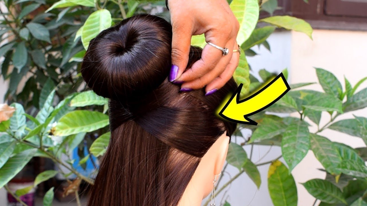 Easy and amazing juda hairstyle with bun stick || Bunstick Bun Hairstyles For New Year 2020