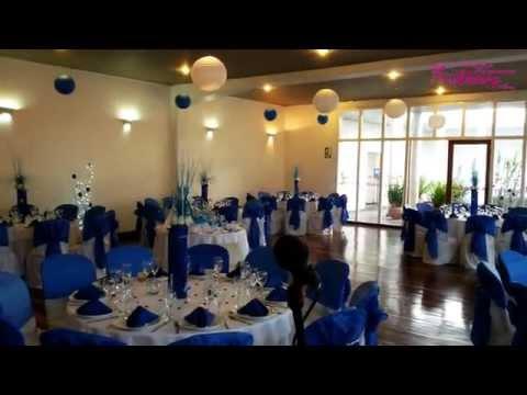 Fiesta 15 a os decoraci n en azul - Decoraciones en color plata ...