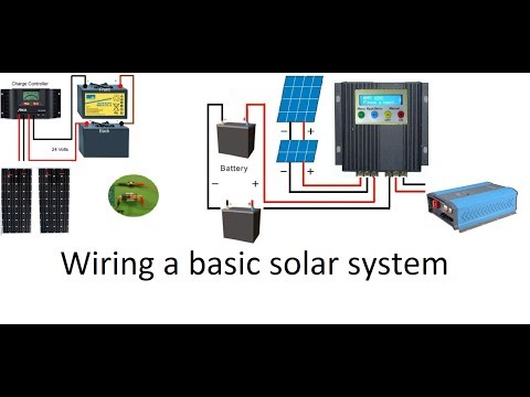 Descargar Video How to wire a 12 volt or a 24 volt solar system with a PWM or an MPPT Solar Charge Controller