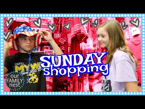 SUNDAYS ARE FOR SHOPPING WITH THE WHOLE FAMILY!