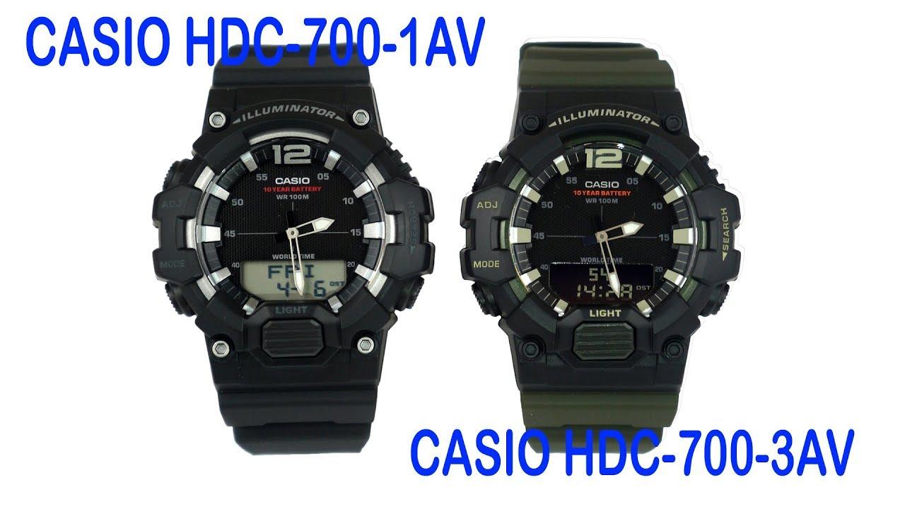 dbfe364a931 Casio HDC-700-1AV Digi-Analog Military Style Watch