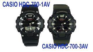 Касіо камери HDC-700-1АВ Дігі-аналоговий військовий стиль годинник
