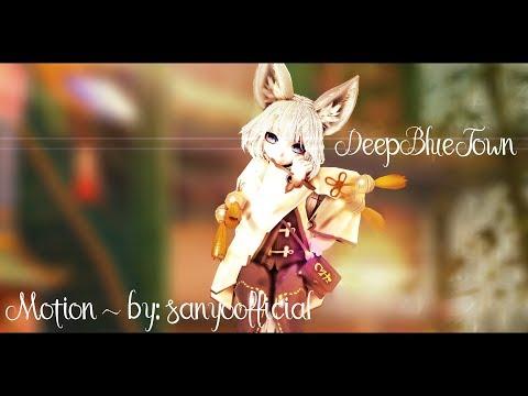 (•MMD•BnS•OC) Deep Blue Town