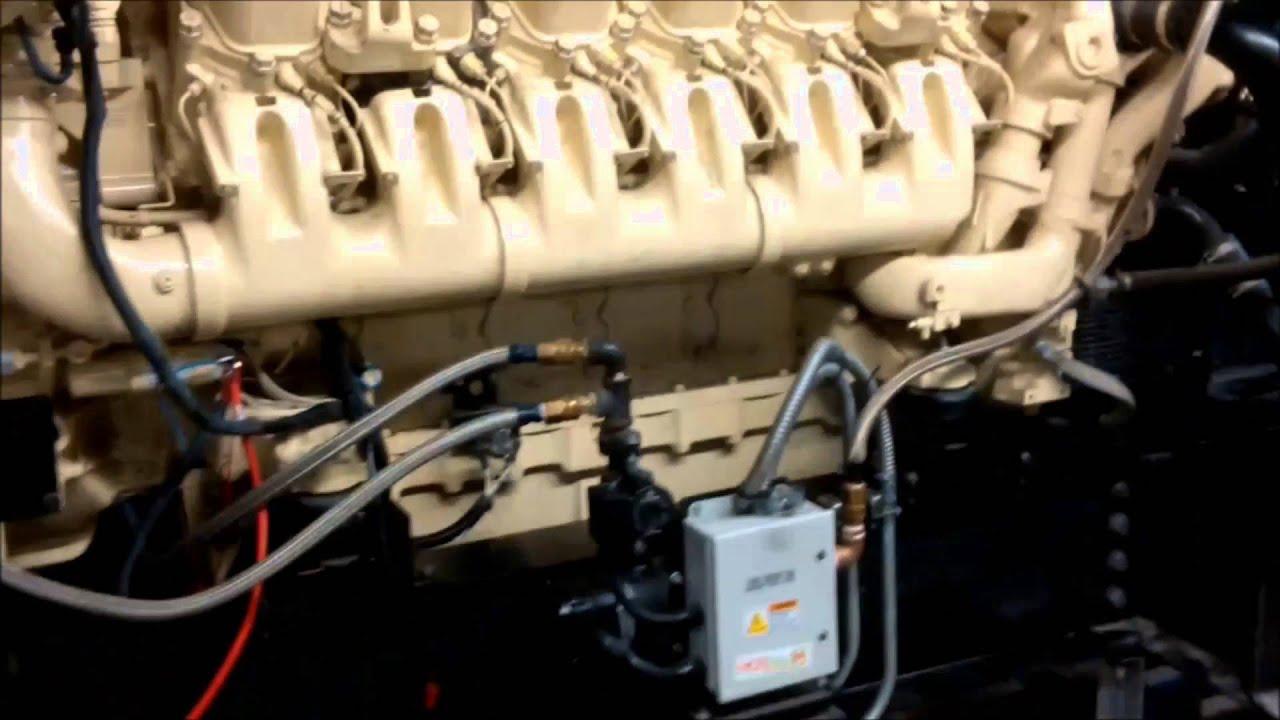 MTU 12V4000 G43 Diesel Engine: First Start After Re-build
